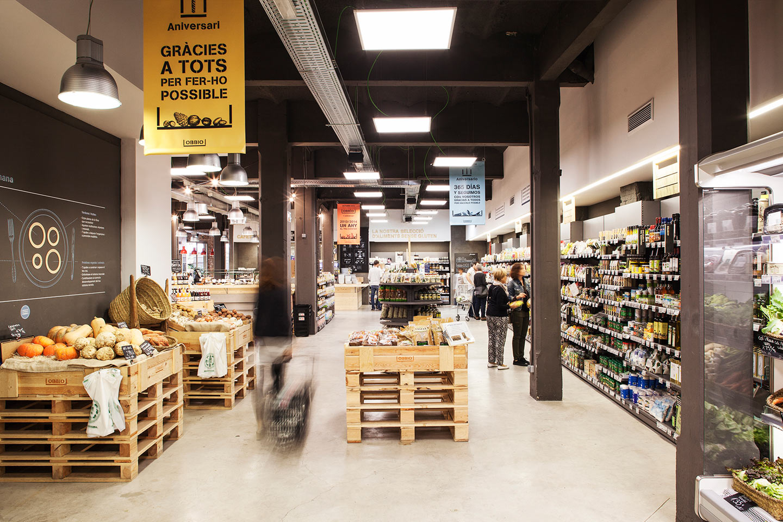 Supermercado ecológico OBBIO Barcelona